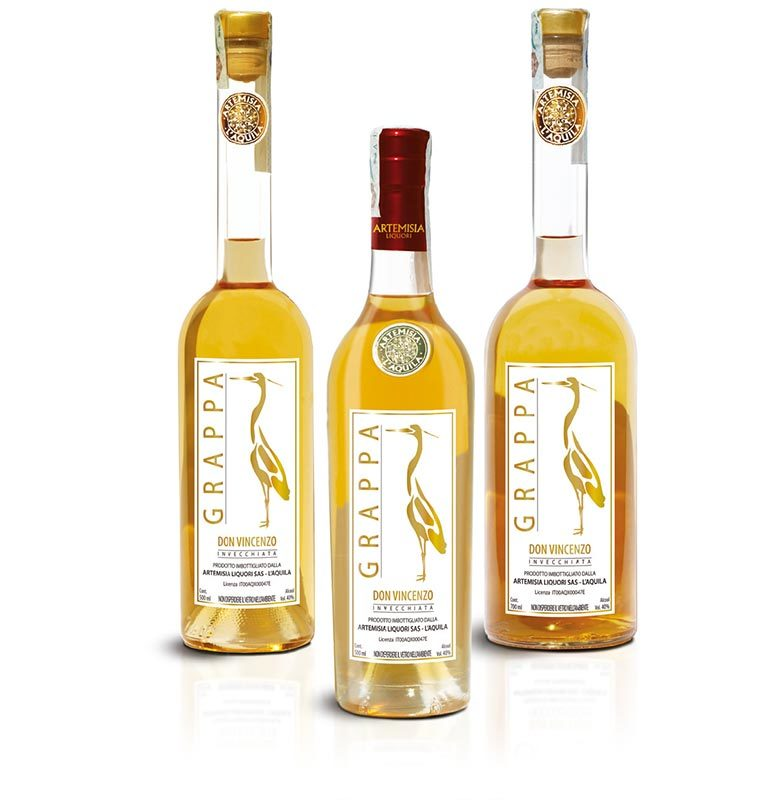 Grappa invecchiata Gold Line 500ml